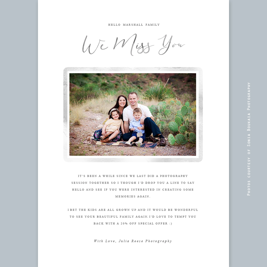We Miss You Customer Email Template - Special offer email template