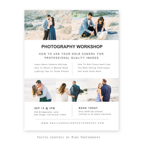 Joy Photography Workshop Flyer Template |