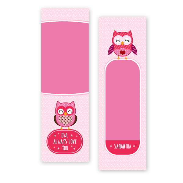 owl always love you bookmark template