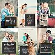 Chalkboard Signs Set - Engagement