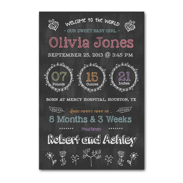 newborn chalkboard template