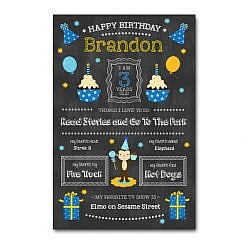 Birthday Boy Chalkboard Template