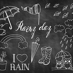 Rainy Day Doodle Chalkboard Overlays