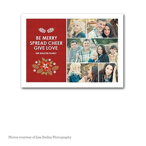 Spread Cheer Holiday Card Template  1