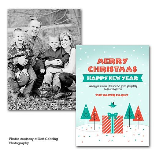 Season Trees Holiday Card Template  1