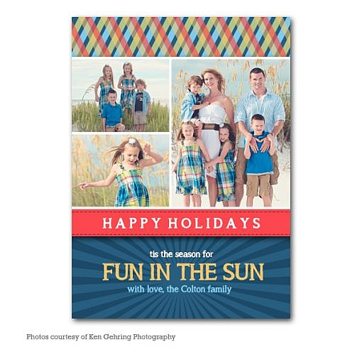Summery Wish Holiday Card Template  1
