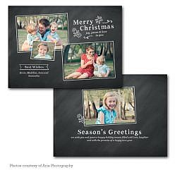 Holly Days Holiday Card Template