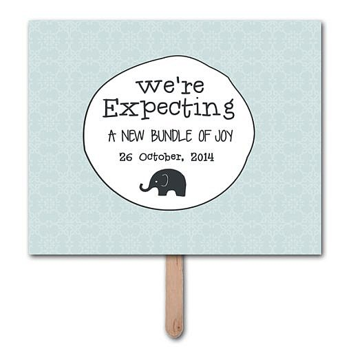 We're Expecting Pregnancy Announcement Photo Prop Template  1