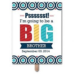 Big Sibling Pregnancy Announcement Photo Prop Template