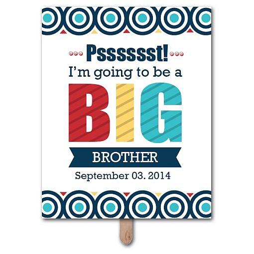 Big Sibling Pregnancy Announcement Photo Prop Template  1