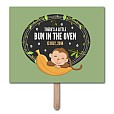 Bun In Oven Pregnancy Announcement Photo Prop Template