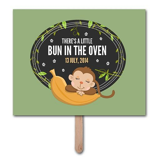 Bun In Oven Pregnancy Announcement Photo Prop Template  1
