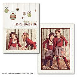 Wishing Peace Holiday Card Template