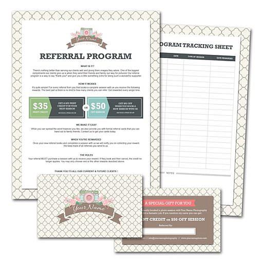 Referral Program Kit For Photographers 1