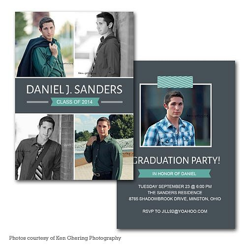 Pish Posh Graduation Announcement  1
