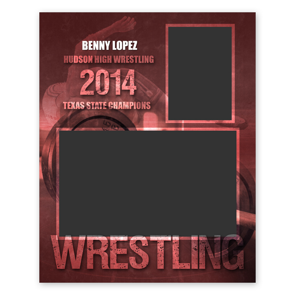 wrestling sports memory mate template