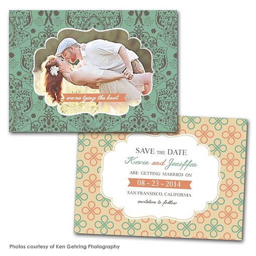 Chic LoveSave the Date Card Template  1