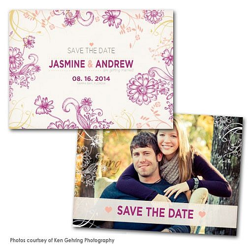 Bloom Lilac Save the Date Card  1