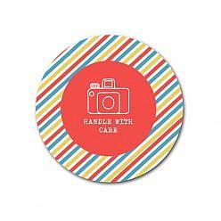 Stripey Sticker Template