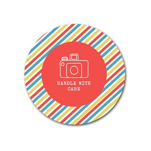 Stripey Sticker Template 1