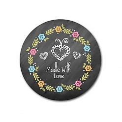 Made With Love Sticker Template