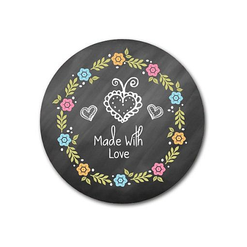 Made With Love Sticker Template  1