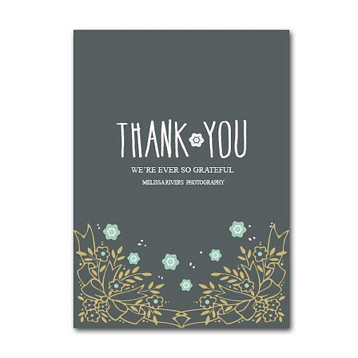 Florially Thank you Card 1
