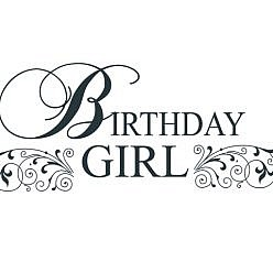 Birthday Girl Word Art
