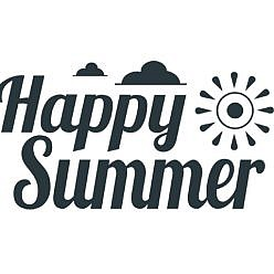 Happy Summer Word Art