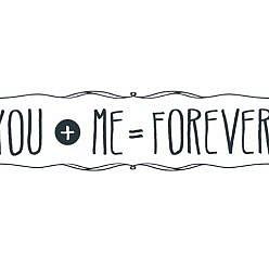 You + Me Word Art