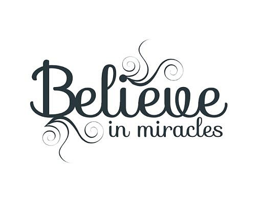 Believe Miracles Word Art 1