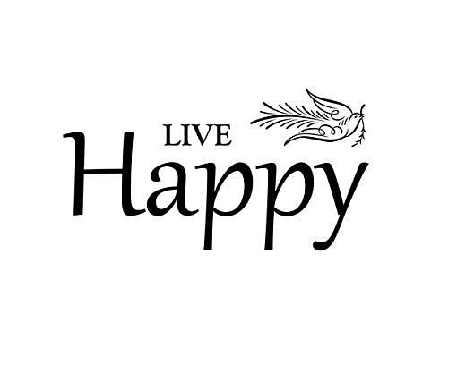 Live Happy Word Art 1