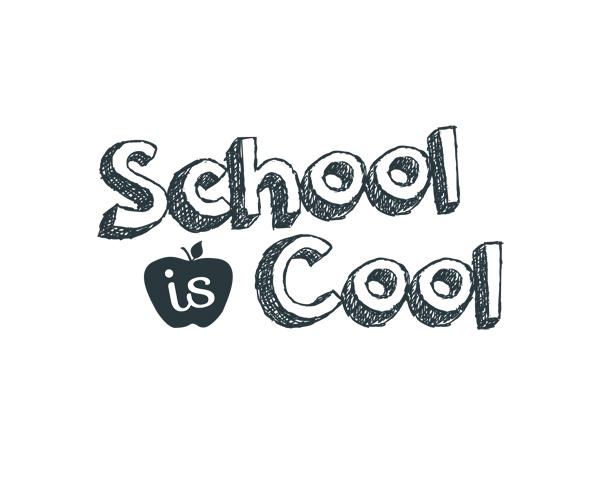 School Is Cool Word Art |