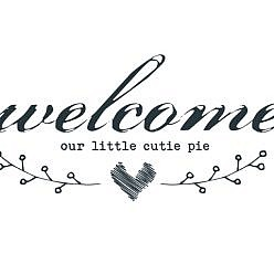 Welcome Cutie Pie Word Art