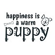 Happiness Puppy Word Art