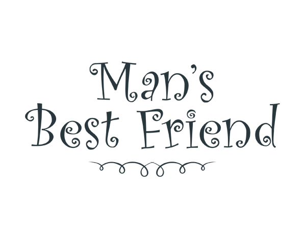 Mans Best Friend Word Art