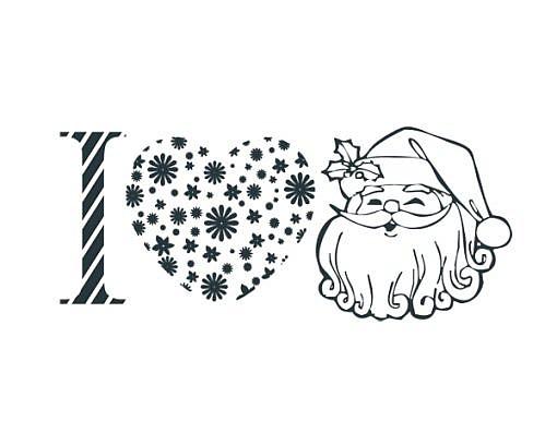 I Love Santa Word Art 1