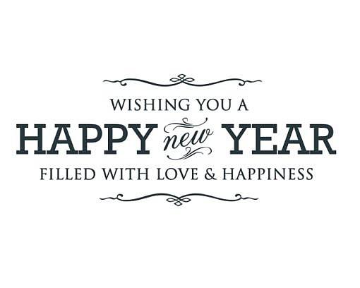Happy New Year Word Art 1