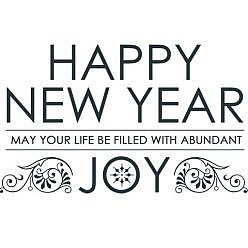 New Year Joy Word Art