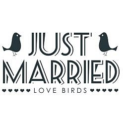 Just Married Word Art