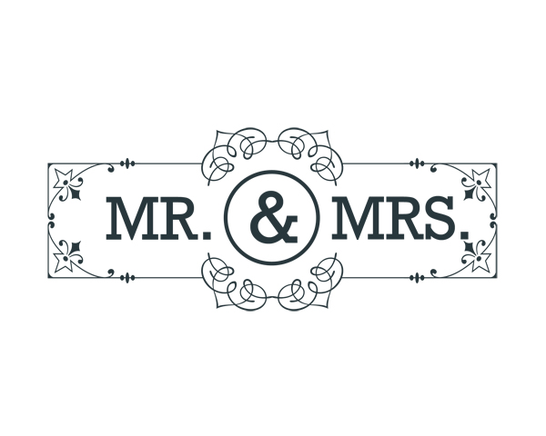 mr and mrs word art