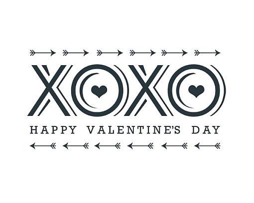 XOXO Valentine's Day Word Art 1