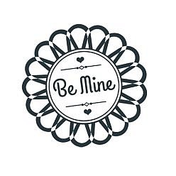 Be Mine Kiss Day Word Art