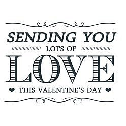 Sending You Love Word Art