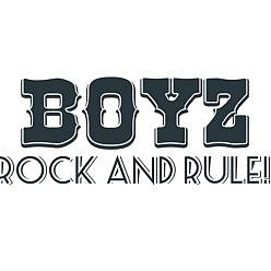 Boyz Rock & Rule Word Art