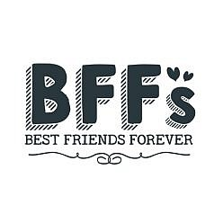 BFF Best Friends Forver Word Art