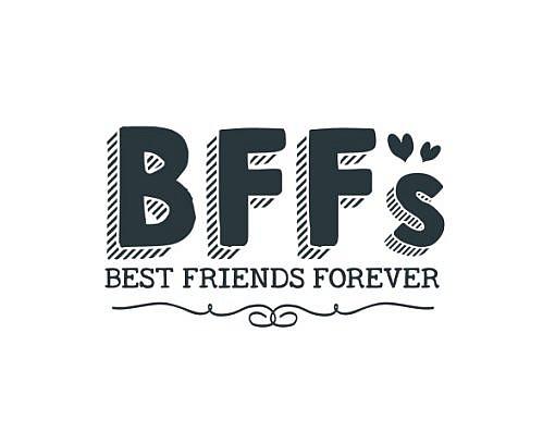 BFF Best Friends Forver Word Art 1