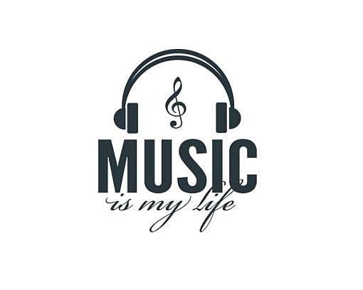 Music Is My Life Word Art 1