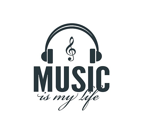 Music Is My Life Word Art