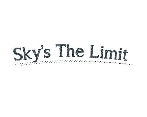 Sky's The Limit Word Art 1